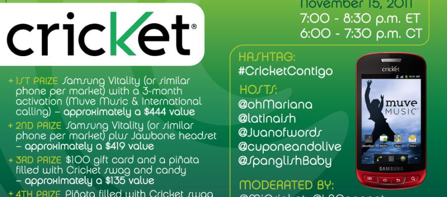 A Twitter Party con Benefits! Close Even If Far Away #CricketContigo