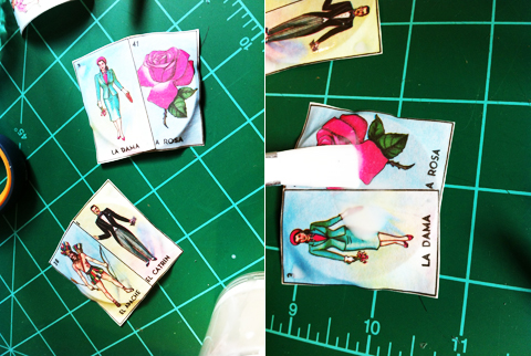 loteria earrings mexistyle