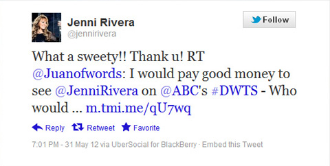 Jenni Rivera Tweet juanofwords