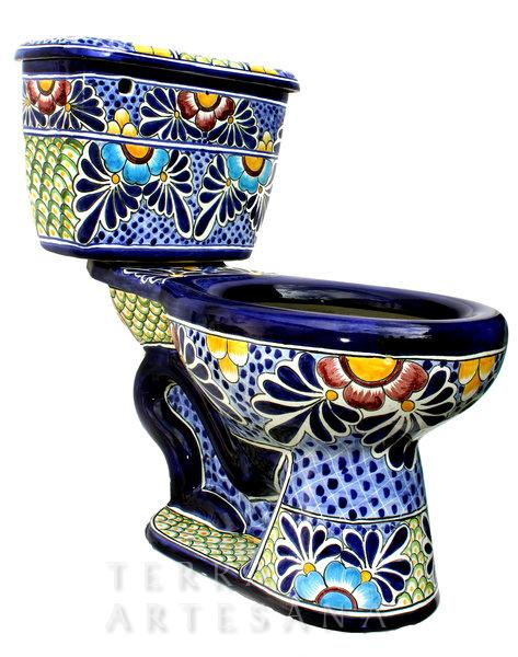 For the mexican home talavera toilet seats juan of words - Idee deco wc original ...