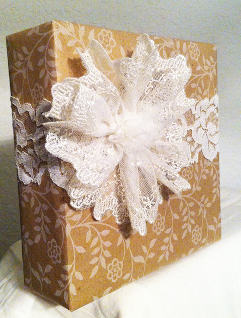 12 Gift Wrapping Days of Christmas: Pretty in Lace!-Day 4