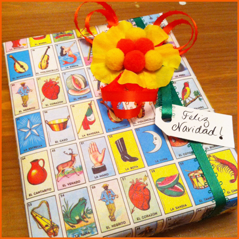 12 Gift Wrapping Days of Christmas: Day 1 – Loteria Style!