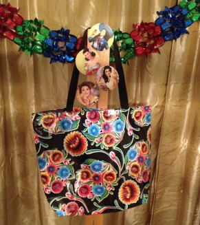 12 Days of Christmas: Day Two – Mexican Oil Cloth Tote & Calendar Girl Coasters!