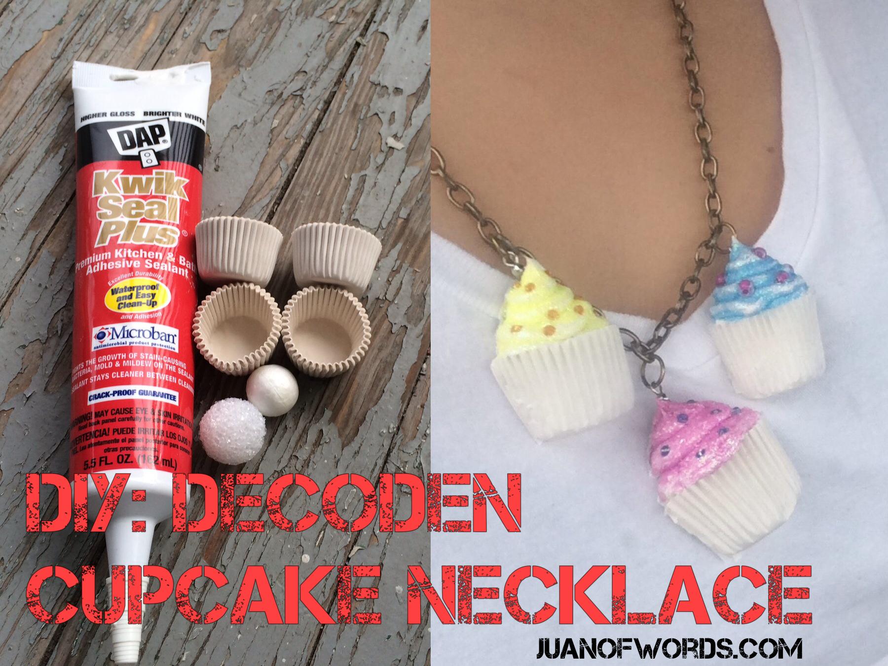 Decoden Cupcake Necklace