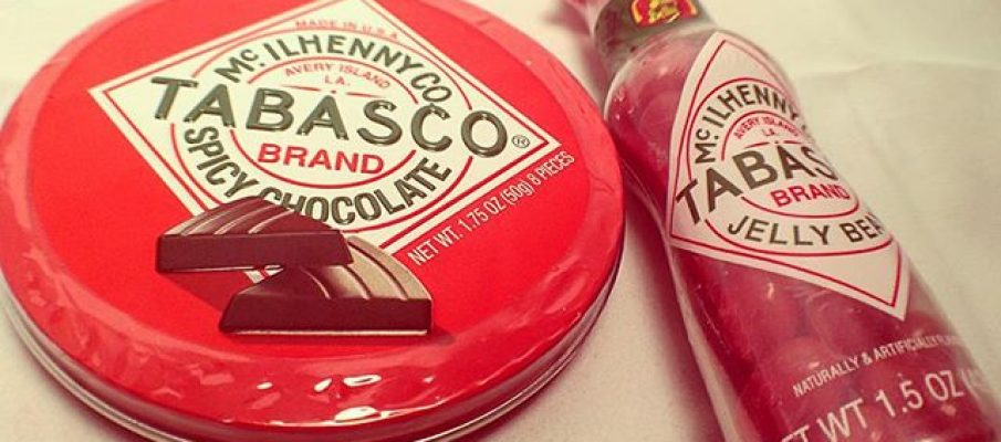 Tabasco. Chocolate & Jelly Beans.