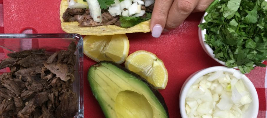 Easy brisket tacos